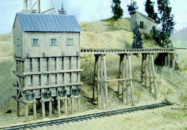 Our new Ore Tipple kit and Ore Trestle.