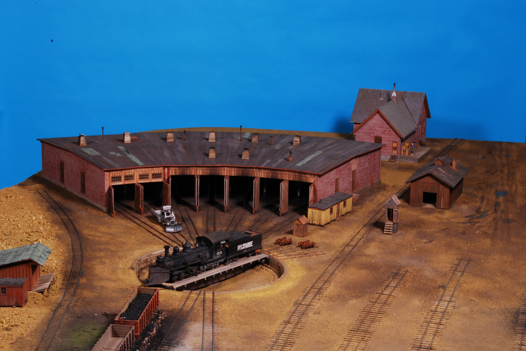 Model Railroad Fine Craft Kits by Builders In Scale - Home Page on ho scale roundhouse plans, walthers track plans, 4x8 ho track plans, engine facility track plans, track and roundhouse steam engine plans, n scale roundhouse plans, o gauge roundhouse plans, railroad turntable construction plans, model railroad roundhouse plans,